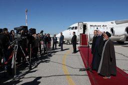 رییس جمهور وارد فرودگاه بین المللی سیرجان شد