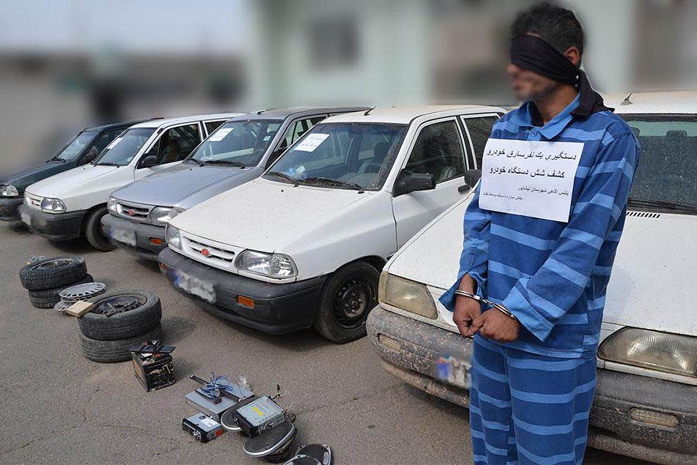 اعضای باند سرقت خودروهای پراید در سیرجان دستگیر شدند