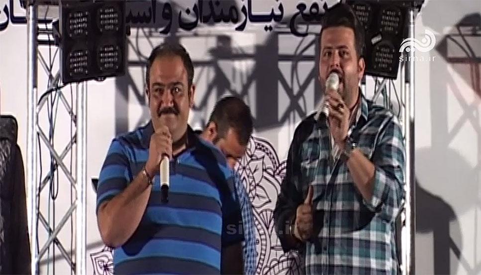 حضور مهران غفوریان در جشنواره مهربانی رمضان سیرجان