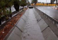 تاثیر پروژه در حال احداث هدایت آبهای سطحی شهرداری سیرجان در بارندگی های اخیر
