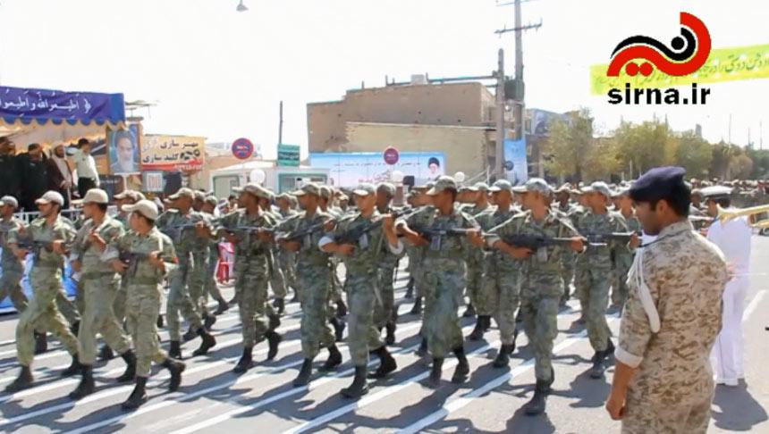 رژه نیروهای مسلح جمهوری اسلامی ایران در سیرجان