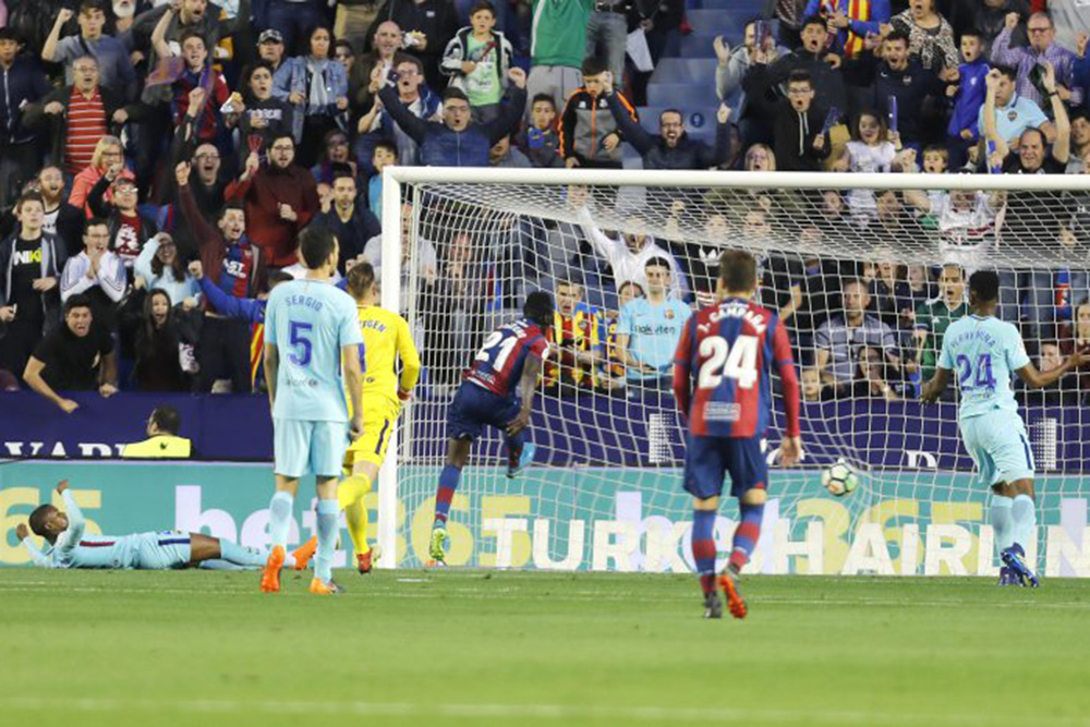لوانته ۵-۴ بارسلونا: پایان شکست ناپذیری