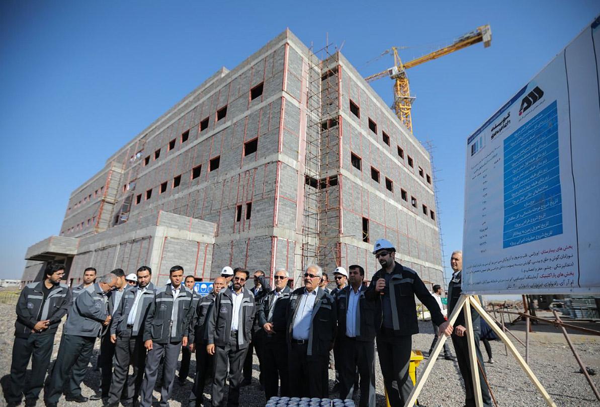 ساخت بیمارستان فوق تخصصی گلگهر در حال انجام است