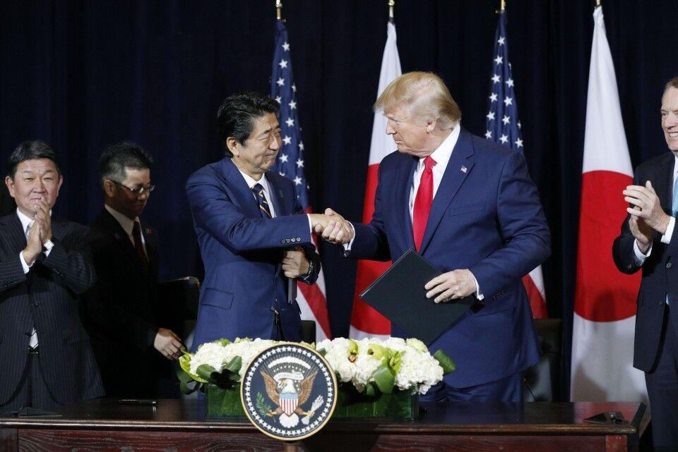 امضای توافقنامه تجاری ژاپن و آمریکا