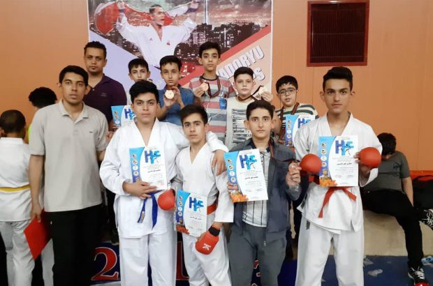 کاراته کاهای کرمانی و کسب ۱۳ مدال از رقابتهای کشوری