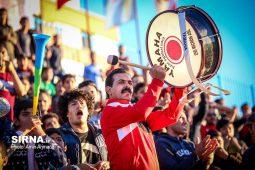گزارش تصویری هواداران تیم گل گهر سیرجان در دیدار با تیم ماشین سازی تبریز