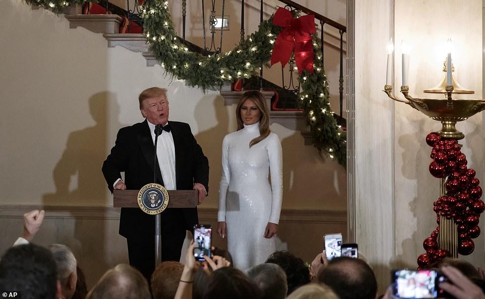 هدیه کریسمس ترامپ به ملانیا