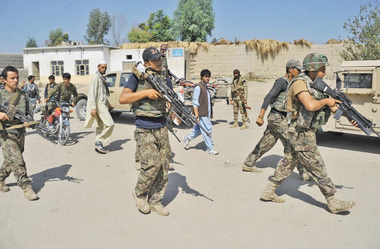 کشته شدن ۱۴ نیروی دولتی افغانستان در حمله طالبان