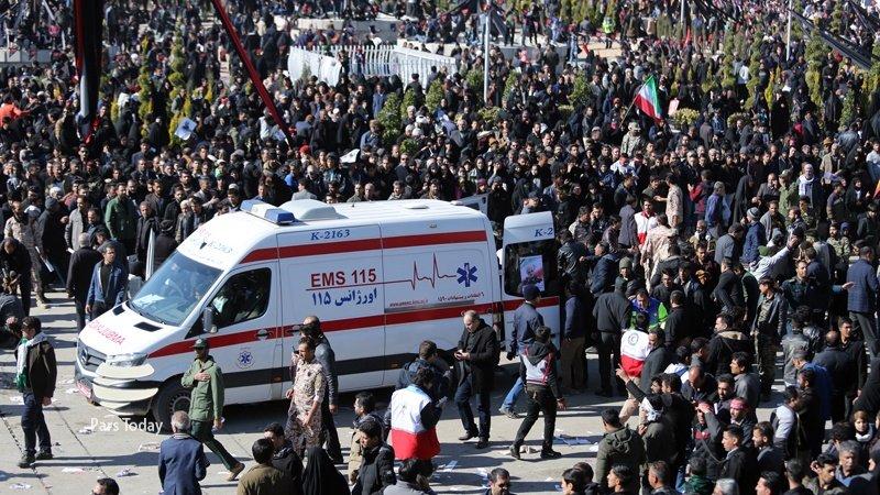 تعداد جان باختگان مراسم تشییع سردار سلیمانی در کرمان به ۵۹ نفر رسید