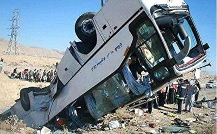 ۱۹ کشته در سقوط اتوبوس به دره در جاده سوادکوه