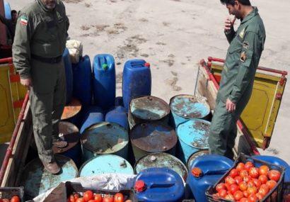 کشف سوخت قاچاق در قالب بار گوجهفرنگی در سیرجان