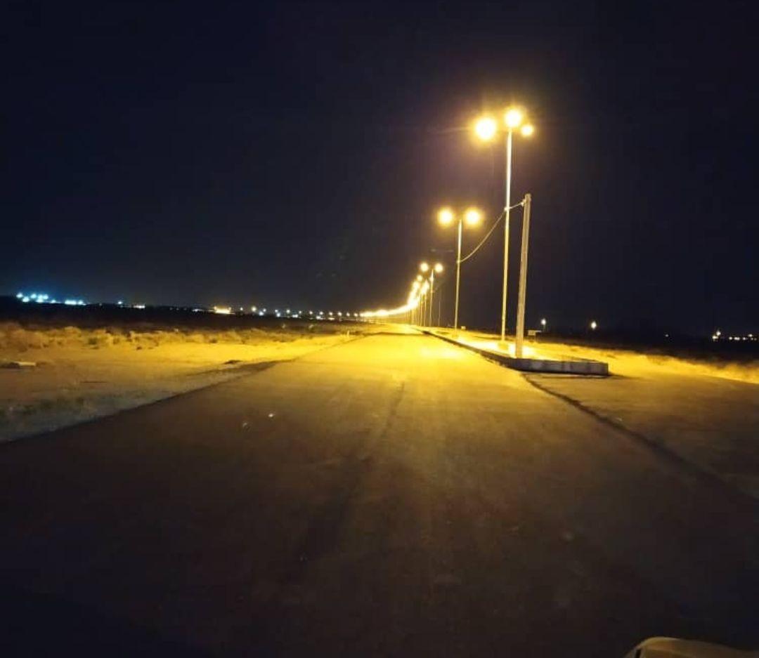 تکمیل و بهره برداری از پروژه بهسازی و احداث شبکه روشنایی محور فرودگاه سیرجان