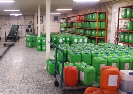 کارگاه تولید مواد ضدعفونی کننده در سیرجان راهاندازی شد