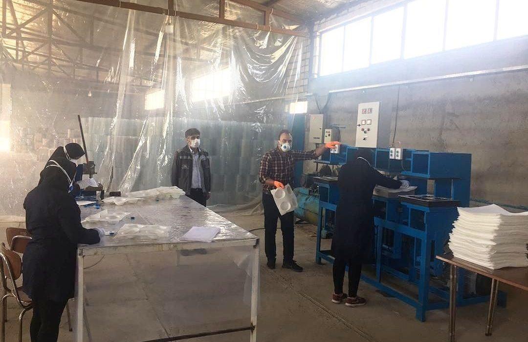 تولید ماسک در منطقه گل گهر سیرجان