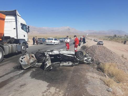 ۷ کشته در تصادف پژو و پراید در جاده قدیم کرمان – ماهان