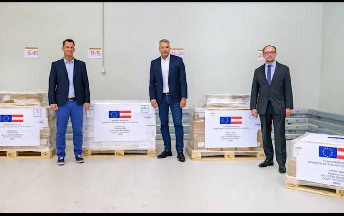 اتریش یک میلیون دوز واکسن به ایران اهدا میکند